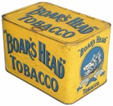 Boar's Head Store Bin Advertising Tobacco Tin