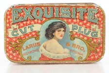 Exquisite Cut Plug Larus and Bros. Tobacco Tin