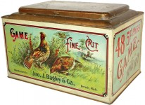 Game Bird Fine Cut Store Display Advertising Tobacco Tin