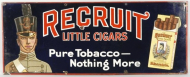 Recruit Little Cigars Porcelain Sign