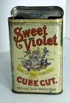 Sweet Violet Cube Cut Vertical Pocket Advertising Tobacco Tin