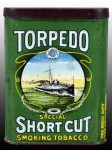 Torpedo Short Cut Vertical Pocket Advertising Tin