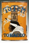 Totem Oval Vertical Pocket Advertising Tobacco Tin