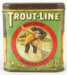 Trout-Line Smoking Tobacco Pocket Advertising Tin
