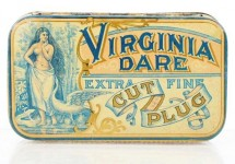 Virginia Dare Extra Fine Cut Plug Flat Pocket Advertising Tobacco Tin