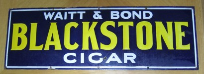 Blackstone Cigars Porcelain Advertising Sign